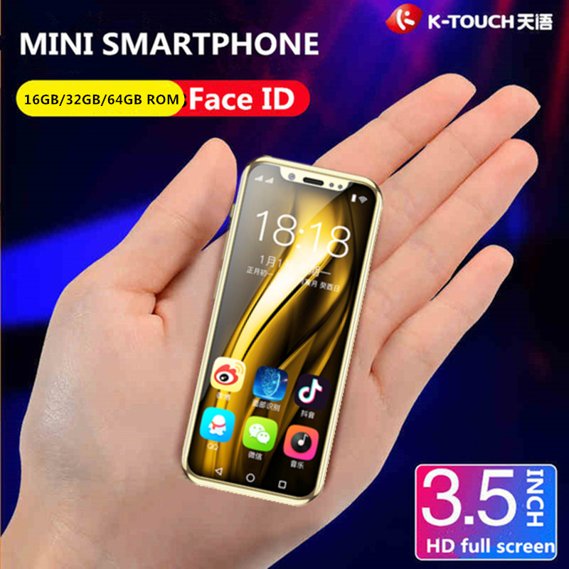 Super small 4G Celular phone K TOUCH I9 Mini Screen 16GB 32GB 64GB ROM Smallest Android