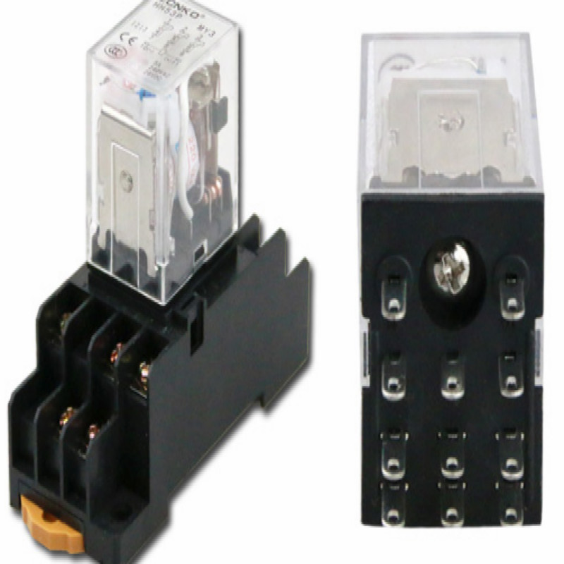 5A HH53P AC12v AC24V Intermediate electromagnetic relay 12v relay 24V rele relay DC110V DC36V eleven feet free shipping in Relays from Home Improvement