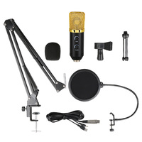 ZEJAT BM700 USB Microphone Set Condenser Microphone Cardioid Computer Recording Karaoke Mic Studio Singing Microphone