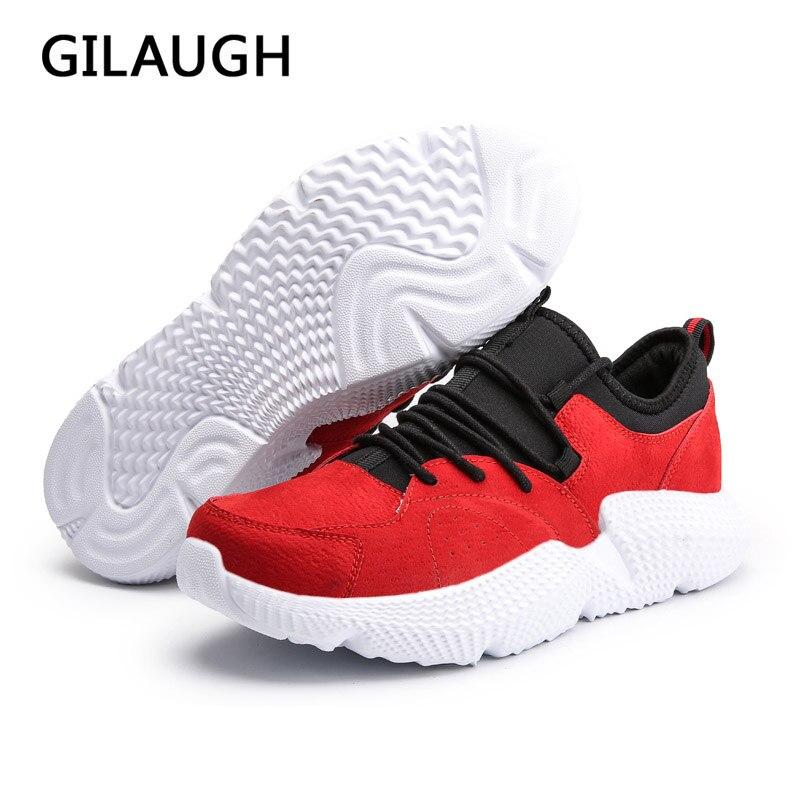 Automne Style Nouveaux Hommes Confortable Sport Dentelle Gilaugh Mode Black Baskets Printemps De Noir up Léger red Chaussures Et blue wPItx8pqE8