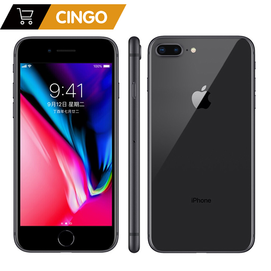 Entsperrt Apple Iphone 8 plus 2675mAh 3GB RAM 64G/256G ROM 12,0 MP Fingerprint iOS 11 4G LTE smartphone 1080P 5,5 zoll bildschirm
