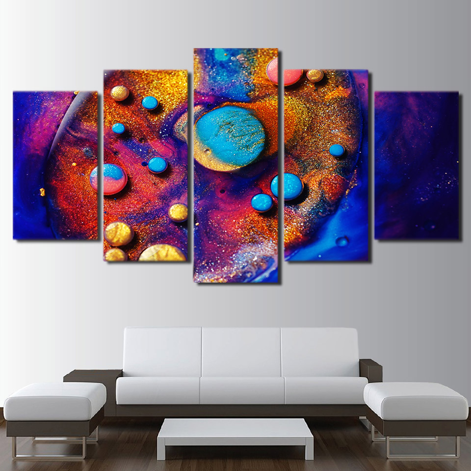 Canvas Hd Prints Pictures Wall Art Colourful Poster 5