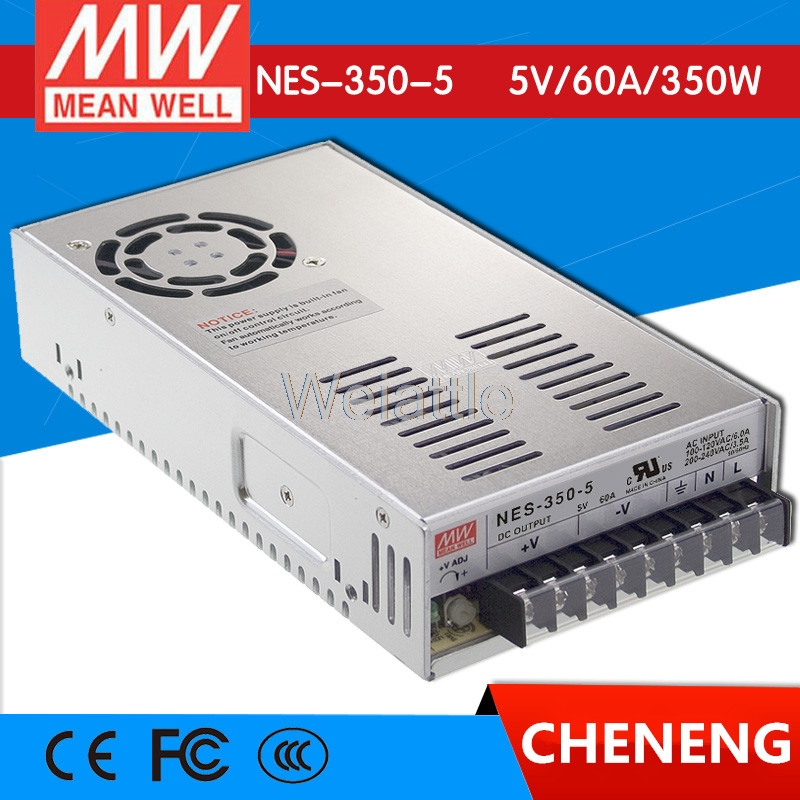цена на MEAN WELL original NES-350-5 5V 60A meanwell NES-350 5V 300W Single Output Switching Power Supply