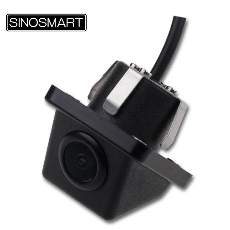 SINOSMART Universal LightPlastic Frame Reverse Parking Backup Camera for CarSUVTruck Firm Installation in 20mm Hole