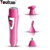 TOOLTOO 3 In 1 Adjustable Safety Razor Double Edge Mini Makeup Tool Hair Removal Cut Nose