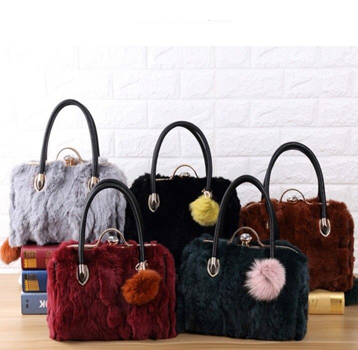 3088 New Fashion Autumn and Winter fur Bag Ladies Diamond Clip Rabbit Fur Shoulder Bag Messenger Laptop Bag autumn and winter new ladies genuine