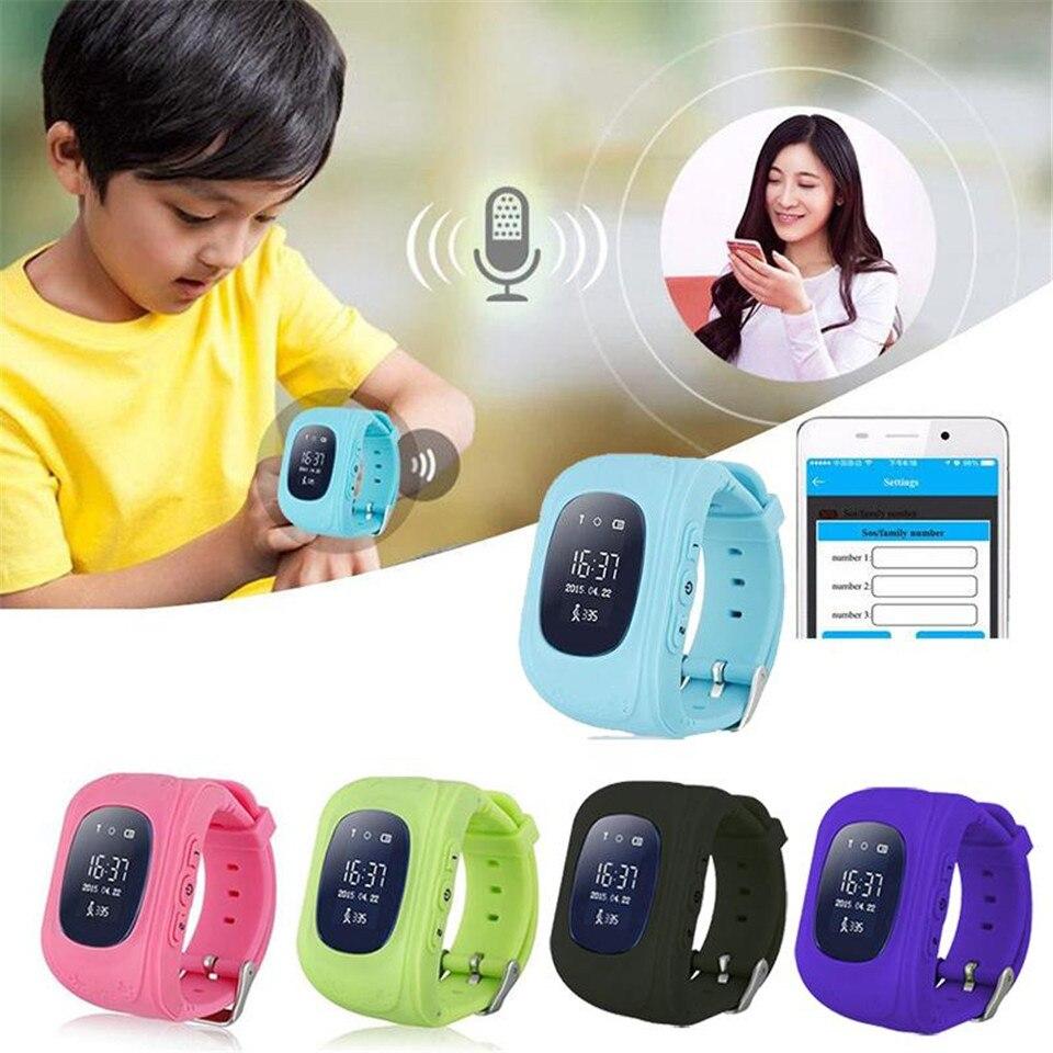 imágenes para Q50 Smart Kid Safe Reloj inteligente Llamada SOS Localizador Localizador Tracker para Niño Perdido Anti Monitor de Bebé Hijo Reloj No GPS