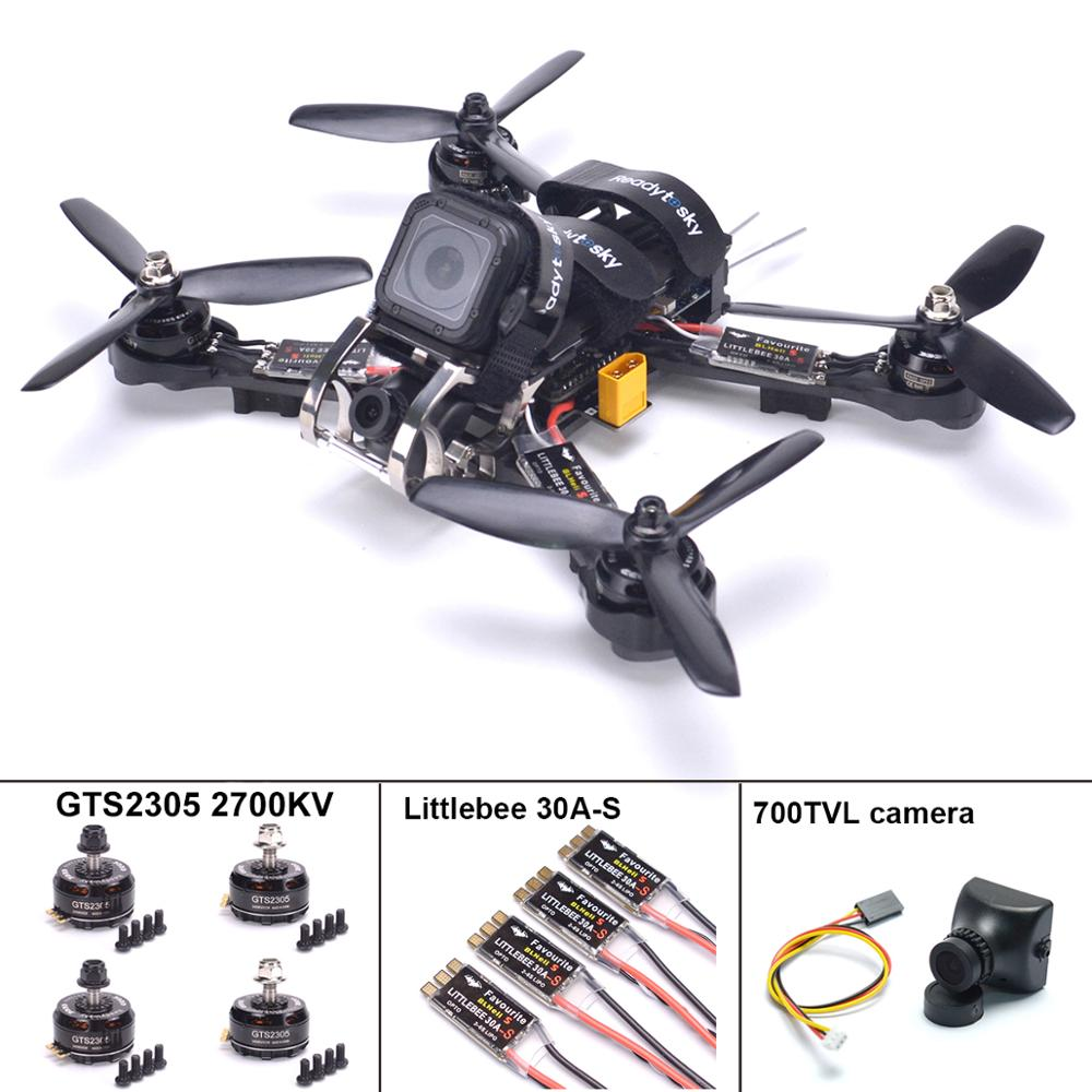 Rooster 230 Carbon Fiber Quadcopter Kit Naze32 F3 flight controller GTS2305 2700kv Motor Littlebee 30A S