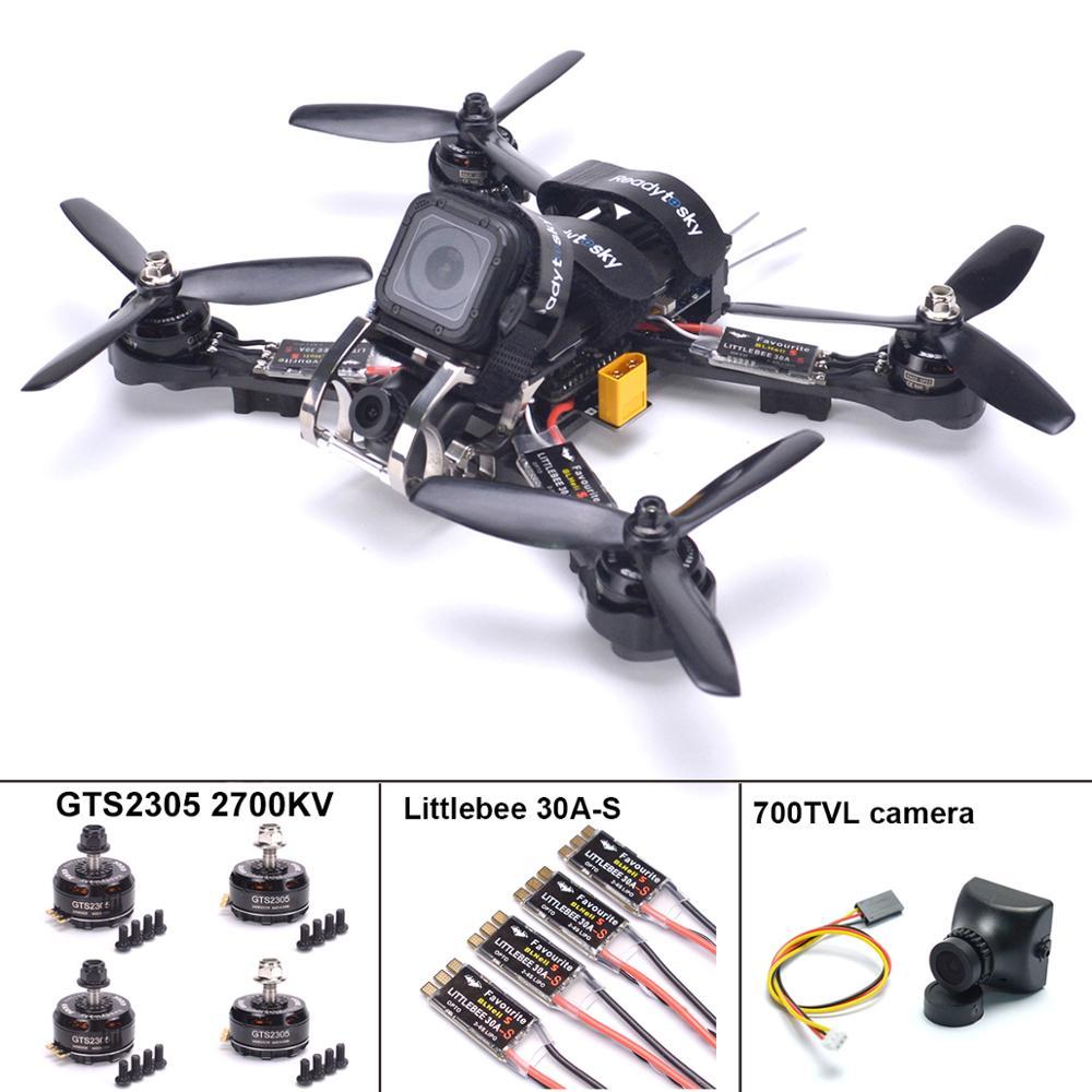 الديك 230 ألياف الكربون Quadcopter كيت Naze32/F3 وحدة تحكم في الطيران GTS2305 2700kv موتور Littlebee 30A S ESC ل الديك 225 مللي متر-في قطع غيار وملحقات من الألعاب والهوايات على  مجموعة 1