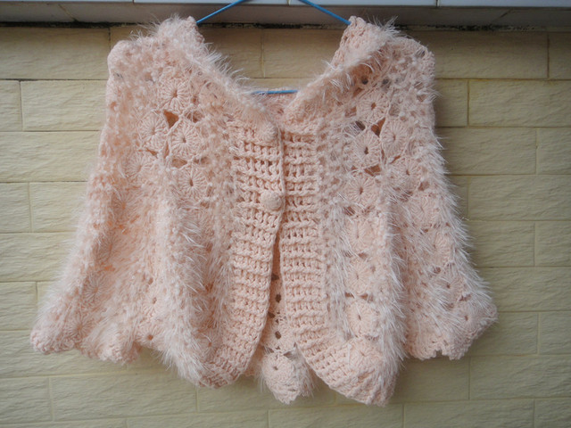 Crochet Cropped Top Short Sweater Cardigan Hooded Poncho Blouse Button Down