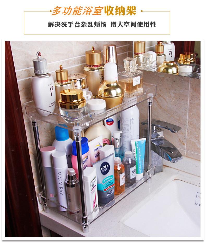 Cosmetic storage box, transparent acrylic bathroom storage rack ...