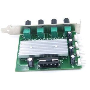 Image 4 - 컴퓨터 pc 냉각 라디에이터 시스템 4 채널 3 핀 4 핀 쿨러 팬 rpm 속도 컨트롤러 (팬 12 v 용 pci 슬롯 후면 브래킷 포함)