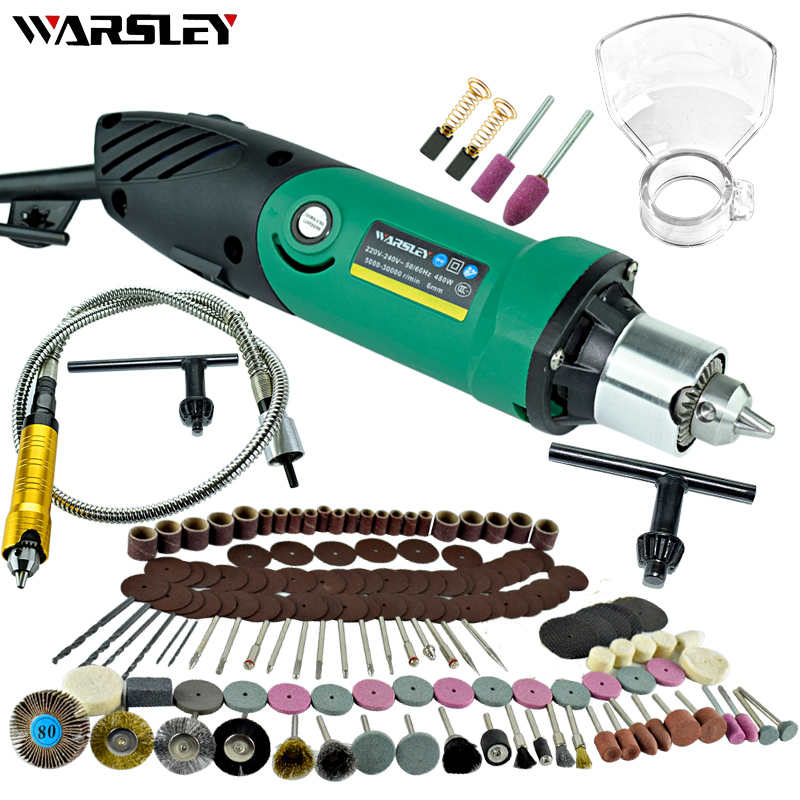 Image 4 - Dremel Style 480W Mini Electric Drill Engraver With 6 Position Variable Speed Rotary Flexible Shaft And Grinding Power Tools-in Electric Drills from Tools on