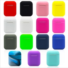 Earphone Case For Apple Airpods strap Soft Silicone headphone accessories Protective wireless bluetooth Cover