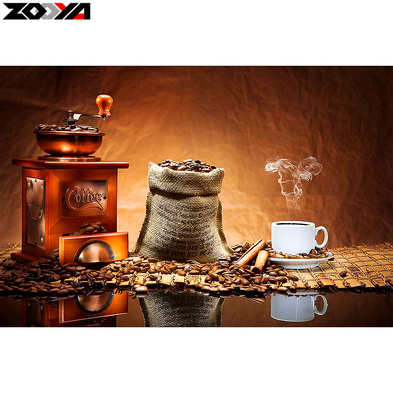 Zooya full square drill 5d diy diamond embroidery coffee for 5d cafe