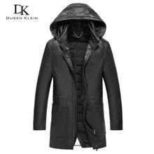 Dusen Klein New Winter Leather Down coat Hat Detachable duck down liner detachable Genuine Sheepskin leather Jacket 61L1607
