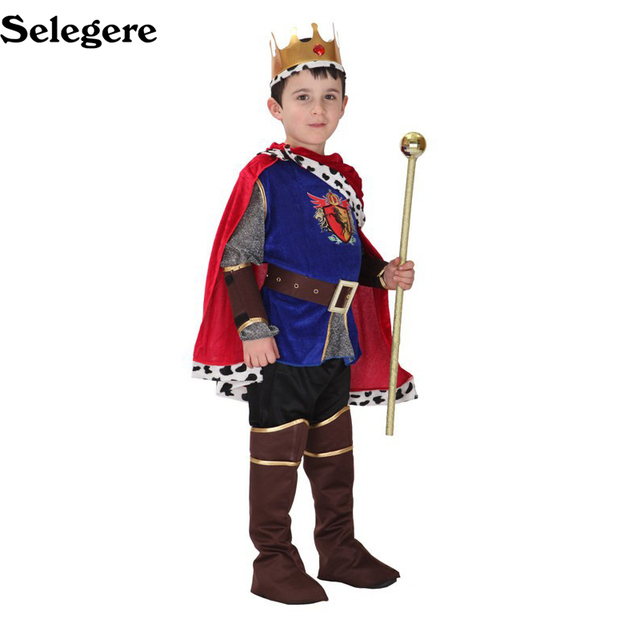 selegere halloween cosplay kids prince costume for children the king