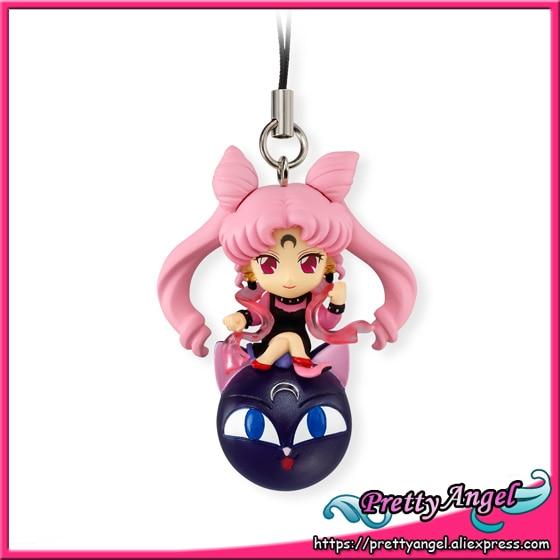 Original Bandai Shokugan Twinkle Dolly Part.3 Sailor Moon Keychain - Black Lady & Luna-P original bandai shokugan sailor moon butterfly ribbon charm key chain sailor moon