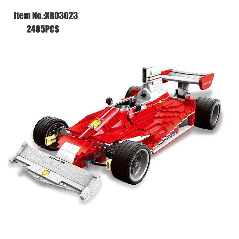 XINGBAO briques technic véritable la voiture de course rouge Set blocs de construction armes compatibles jouets pour enfants