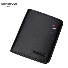 MartinPOLO Men Wallets Genuine Leather Purse Mini Ultra-thin Compact Wallet Male Credit Card billetera hombre MP1002