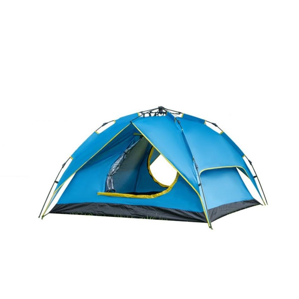 Здесь можно купить  Portable Outdoor Camping Shelter Instant Pop Up 4 Persons Double Layer Automatic Tent Folding Tent for Hiking Drop Shipping  Спорт и развлечения