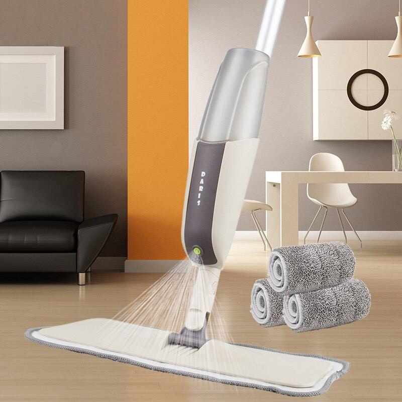 Magic Spray Mop Wooden Floor with Reusable Microfiber Pads 360 Degree Handle Home Windows Kitchen Mop Sweeper Broom Clean Tools
