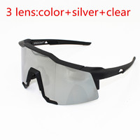 3 Lens Clear Lens Brand SpeedCraft Outdoor Sports Bicycle Sunglasses Bicicleta Gafas Ciclismo MTB Cycling Glasses