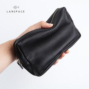 Image 2 - LANSPACE skórzany portfel męski modne portmonetki znane marki torebka
