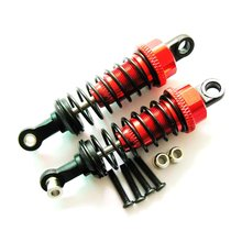 1 pair 65Mm 1/18 Remote Control Car Four-Wheel Drive Truck Front And Rear Metal Shock Absorber Hardware Accessories