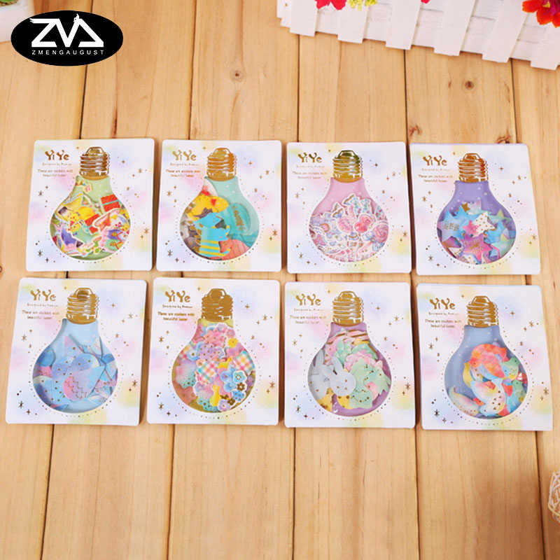 1X pack Creative Light bulb series sticker decoration decal diy Cartoon Scrapbooking Stickers scrapbooking Album Deco Sticker