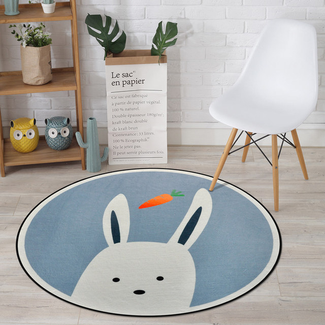 Cute Animals Carpet Kids Room Modern Soft Round Computer Chair Rug Fashion Rugs For Bedroom Children Tent Floor Mat In From Home