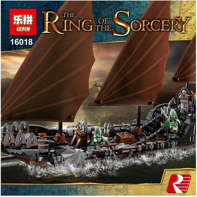 Lepin 16018 Genuine The lord of rings Series The Ghost Pirate Ship Set Building Block Brick Funny Toys 79008 lepin 16018 756pcs genuine the lord of rings series the ghost pirate ship set building block brick toys compatible legoed 79008