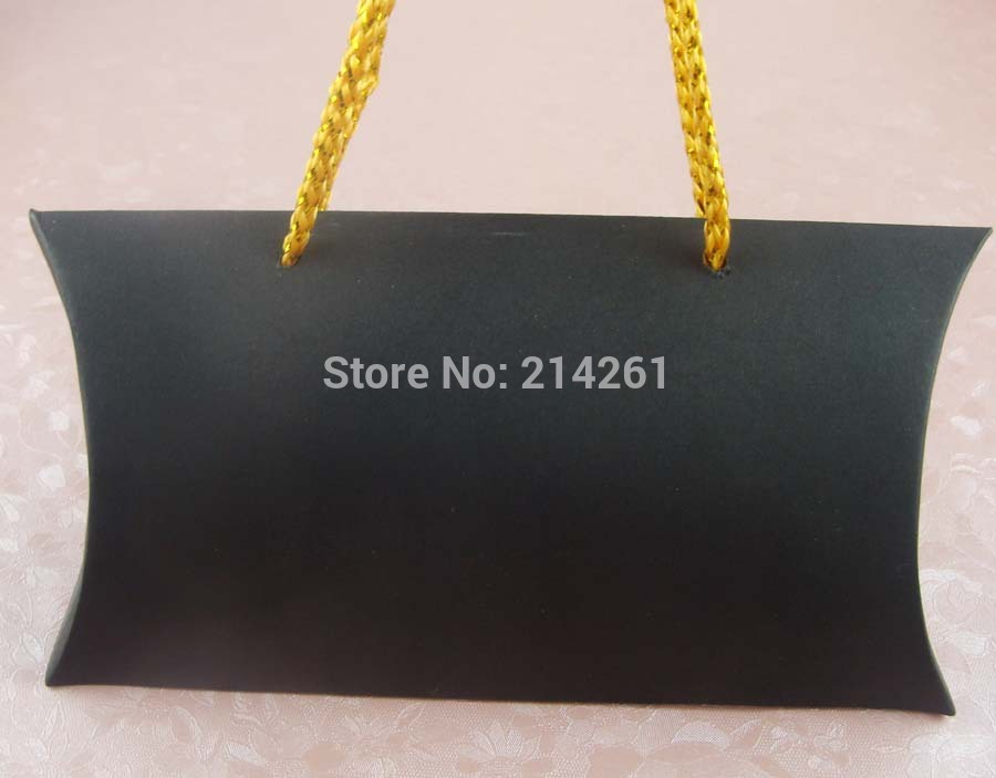 custom 7.8x11.8 Black Handles jewelry pillow BOX For Earring /Necklace /Ring /Jewelry Set /Gift /candy favors