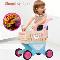 New Arrival Baby Simulation Shopping Cart With FREE Let's Play House General Cargo Children Pretend Play Toys Xmas/Birthday Gift
