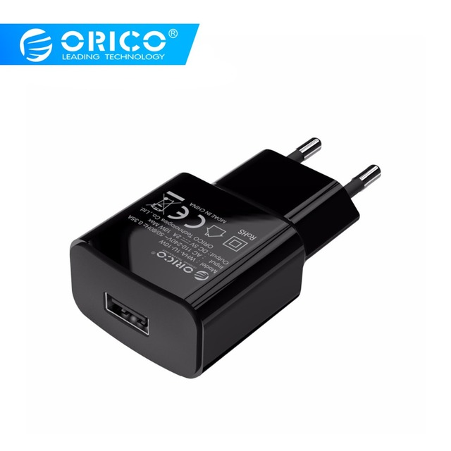 ORICO WHA USB Sạc Du Lịch 5V1A 5V2A Điện Thoại Treo Tường Adapter Sạc EU Cắm Sạc cho Xiaomi Huawei Samsung