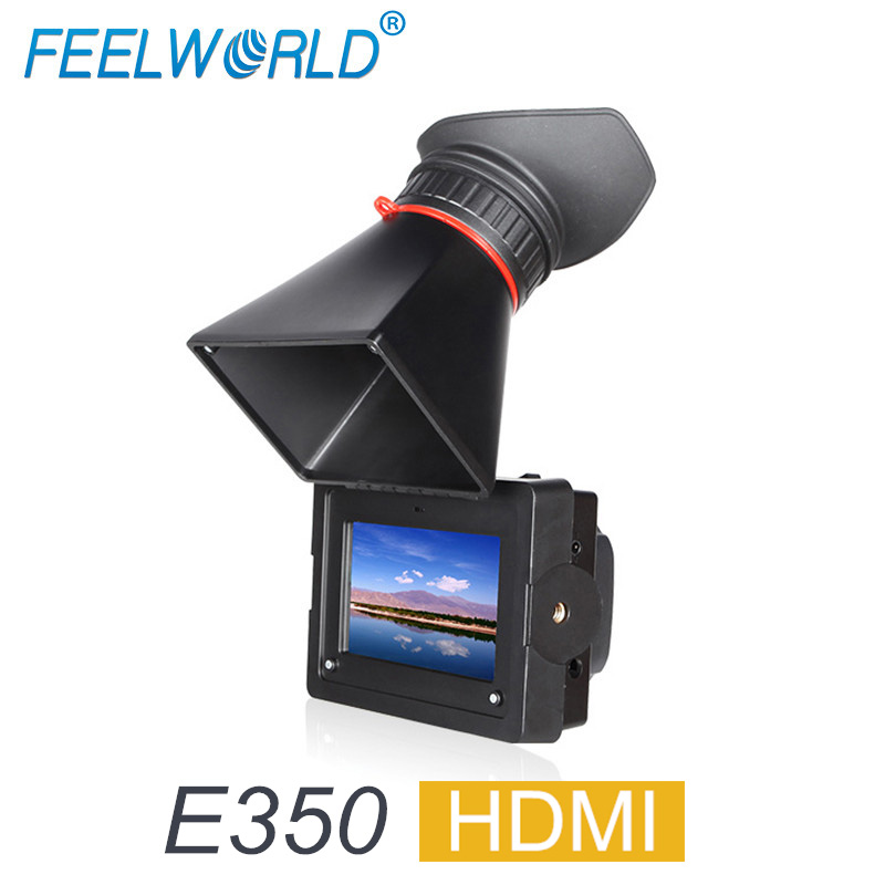 FEELWORLD E350 3 5 EVF HDMI Electronic View Finder 3 5 HD 800x480 LCD Display Magnifier
