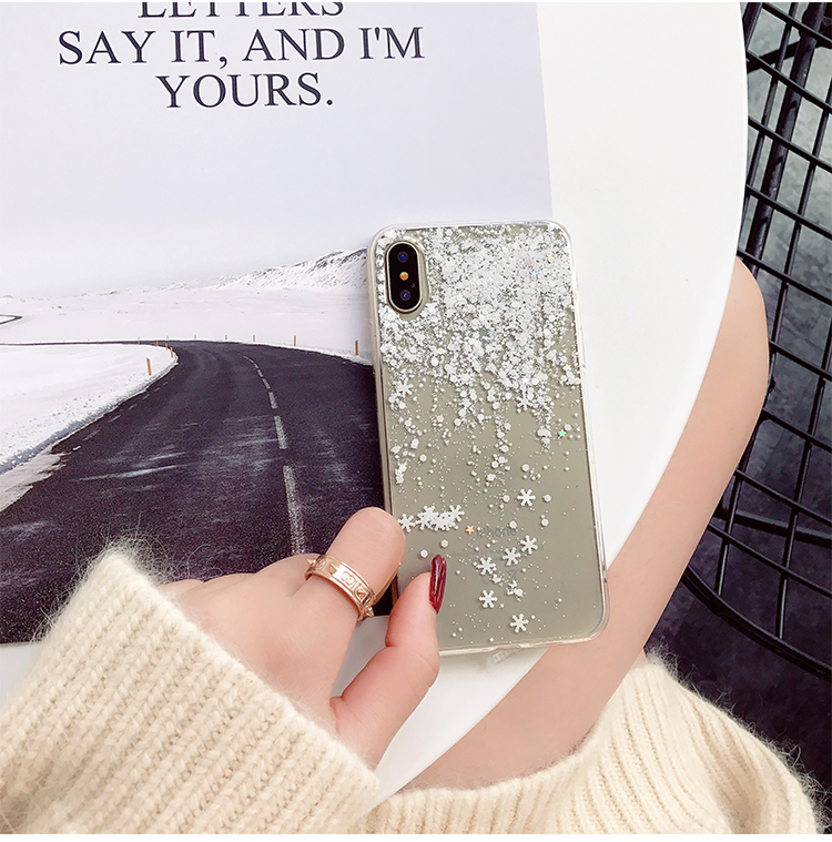 Person - Snow Flower Soft Silicone Case For iPhone X XR Xs Max  7 8 6 6s Plus