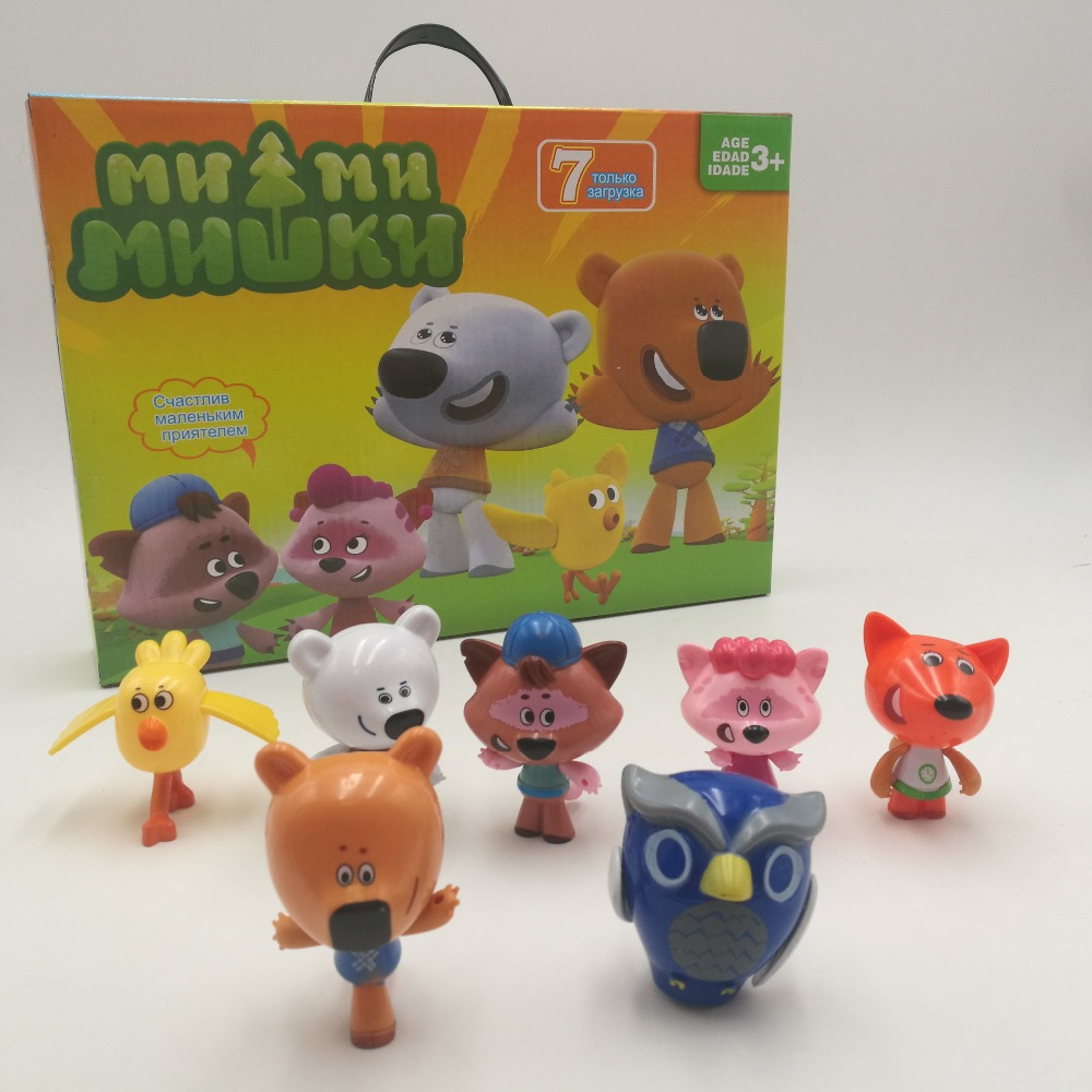 Russian Carton Toys Mimi Bear Children's Toys Mimi Mishika In The Figures New Year Birthday Gifts For Girls Boys Pretend