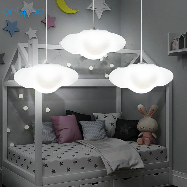 Artpad Remote Control Dimmer Rgb Cloud Pendant Light Living Room Bedroom Baby Kindergarten Led Hanging