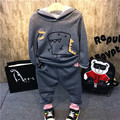 In the autumn of 2016 new Korean boy dinosaur shape tide casual two piece suit free shipping