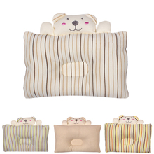 Natural Colored Cotton Baby Shaping Pillow Anti Flat Head Infant Bedding Newborn Boys Girls Kids Sleep Positioner