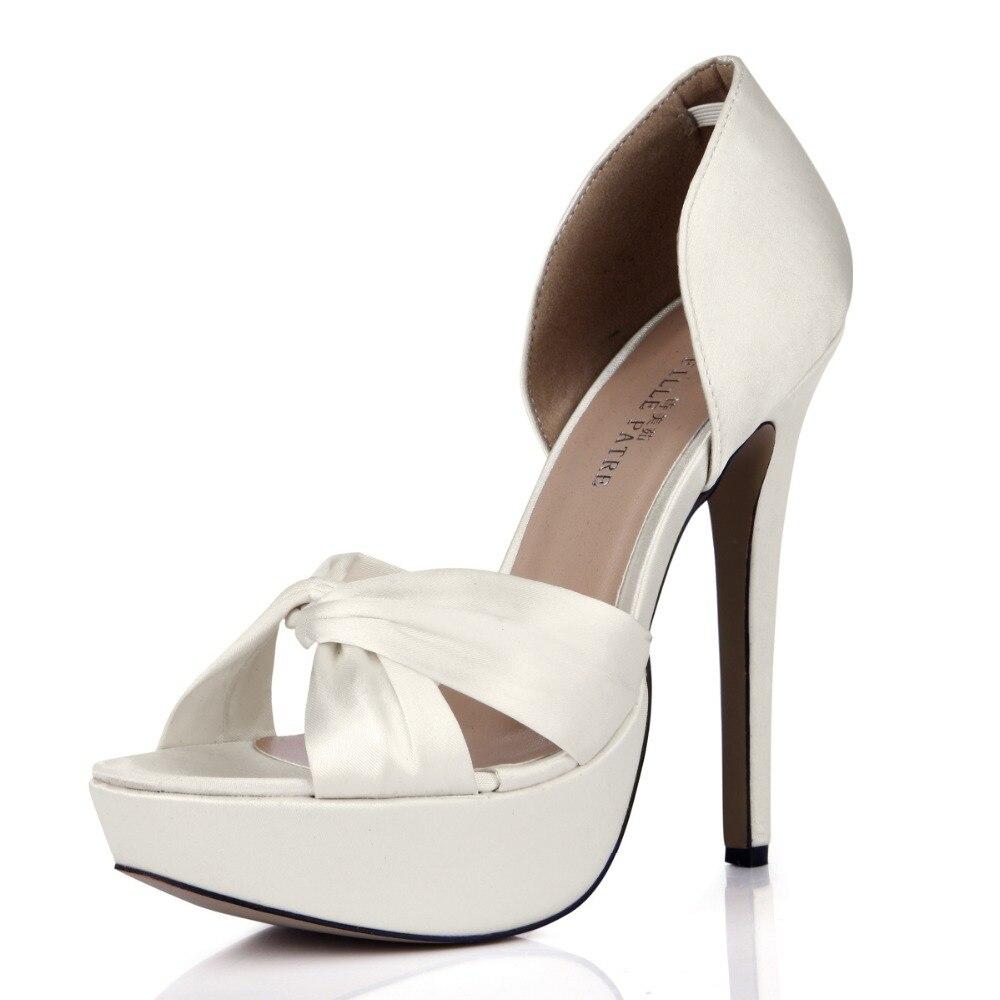 ФОТО Summer Fashion Platform Satin Sandals Thin High Heels wedding Party Silk Open Toe Dress Pump Women Rome Gladiator Slip-on Sandal