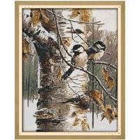 Free Ship Birds Counted Cross Stitch 11CT Printed 14CT DMC Cotton Cross Stitch Sets DIY Cross