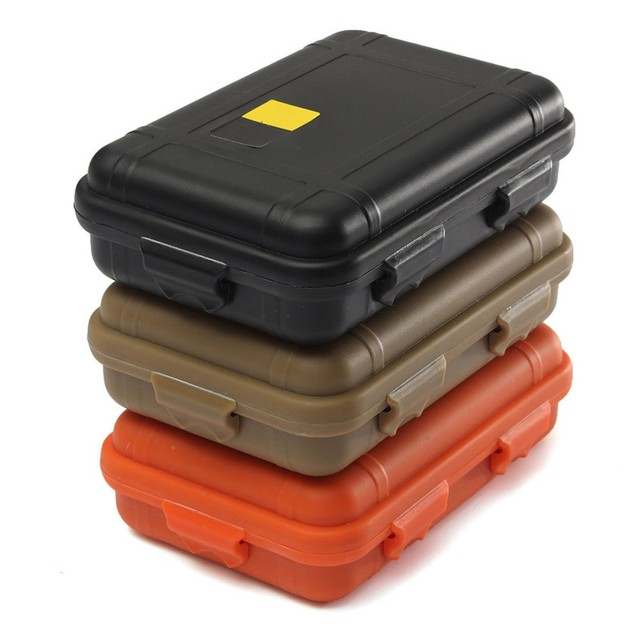 L/S Size Outdoor Plastic Waterproof Box Airtight Survival Case Container  Camping Outdoor Travel Storage