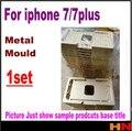 1 pcs de alumínio do molde para iphone 7 7 plus 4.7 5.5 polegada laminador molde de metal para o vidro frontal com moldura de Localização para oca do usuário
