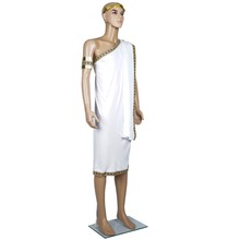 Caesar Toga Greek Pharaoh Cosplay Costumes White Outfits For Adult Male