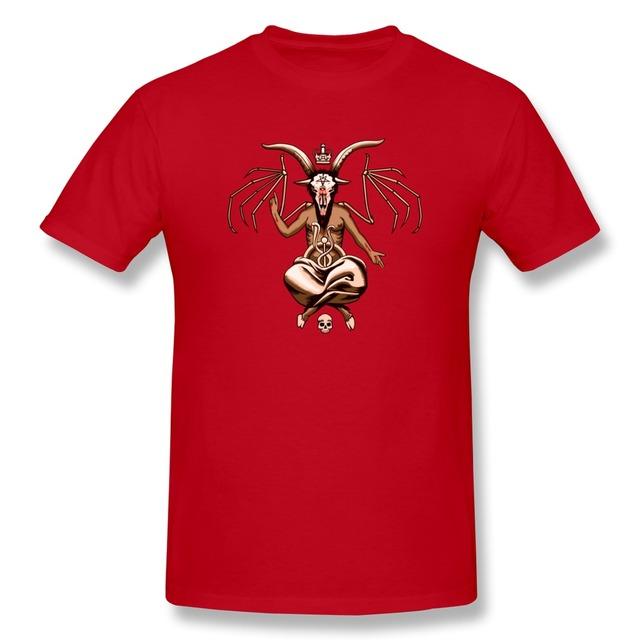 Normal O Cuello Baphomet 2k14 Hombres camiseta en Venta 100% Algodón camiseta para Niño