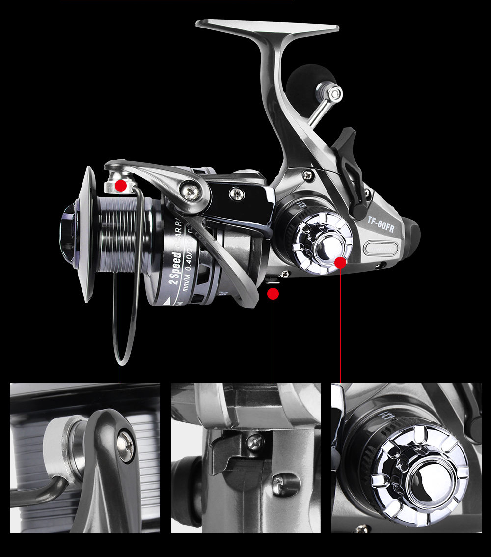 New Design Double Speed 6.314.31 LeftRight Exchangeable Spin Fishing Reel 12+1 S.S Bearings Spinning Reel With 2 Spools Coil  (9)