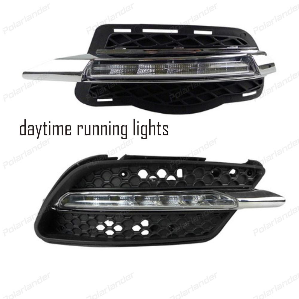 fog Lamp car-styling For M/ercedes B/enz C-class W2014 2011-2012 car LED DRL Daytime Running Light Daylight