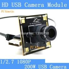 PU'Aimetis cámara de Vigilancia 1080 p Full Hd 30fps de Alta Velocidad OV2710 MJPEG CCTV Mini Android Linux UVC Webcam USB de La Cámara módulo
